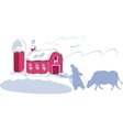 Rancher on ranch vector image