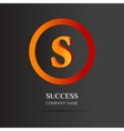 S Letter logo abstract design vector image