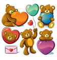 Valentine cute bear vector image