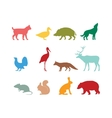 Wild animal silhouette and wild animal symbols vector image