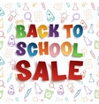 Back to school sale background vector image