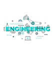 Technology engineering flat concept vector image