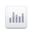 white graph icon Eps10 Easy to edit vector image vector image