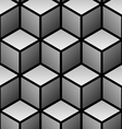 cubes seamless pattern vector image vector image