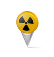 Nuclear symbol pointer vector image vector image