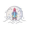 Startup space rocket vector image