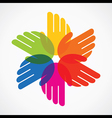 colorful hand make flower vector image