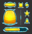 Fantastic game user interface assets vector image