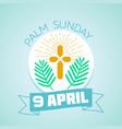 9 april palm sunday vector image
