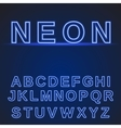 neon alphabet Glowing font vector image
