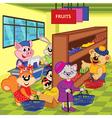 animals in supermarket vector image