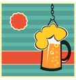 Beer concept with mug of beer vector image