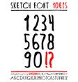 English handwriting alphabet figures vector image