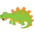 happy dinosaur cartoon vector image