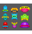 set of different labels with ribbons vector image