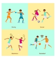 Sport people activities icon set vector image