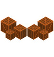 wooden boxes in different sizes vector image