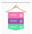 Banner Hanger Cloth vector image