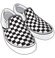checkered vans vector image vector image
