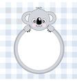koala frame vector image