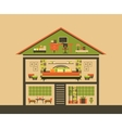 Cutaway House vector image
