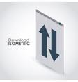 isometric download icon design vector image