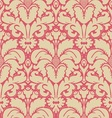 Baroque style damask background vector image