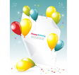 Card for congratulations vector image