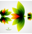 Colorful abstract flowers template vector image