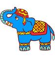 elephant isolated on white vector image