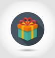 Gift box colorful icon vector image