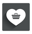 Love Shopping Cart sign icon Online buying vector image