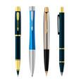 set colorful pens vector image