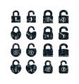 set of locks icons vector image