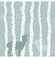 Deer in wood3 vector image vector image