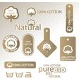 natural Cotton labels vector image