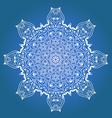 Ethnic Fractal Meditation Mandala vector image