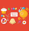 set russian easter food food with vector image