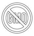 no gmo sign icon outline style vector image