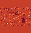 stone age pattern in red colors vector image