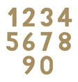 Wood pattern numbers vector image
