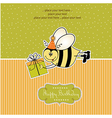 birthday card with bee vector image