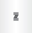 black paper letter z logo icon element vector image