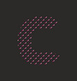 c dotted alphabet letter isolated on black vector image