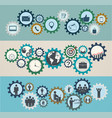 concept of mechanisms with business icons vector image