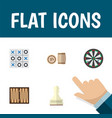 Flat icon games set of dice pawn arrow and other vector image