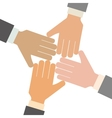 hands and teamwork design vector image