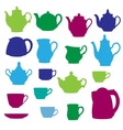 Kitchen wares objects silhouettes set vector image