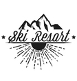 logos of a ski resort adventure vector image