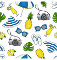 pattern from summer elements for vacation and vector image